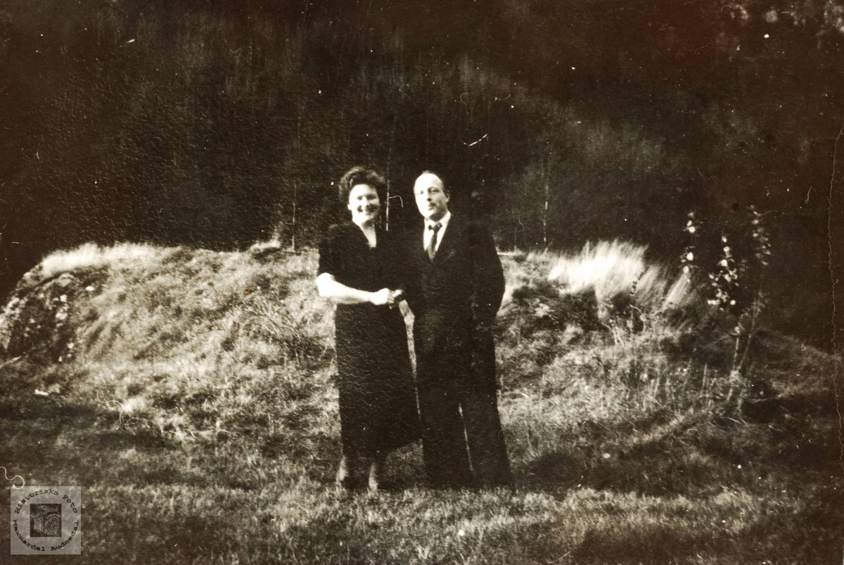 Nygift, ekteparet Ruth og Ivar Smedsland, Grindheim Audnedal..