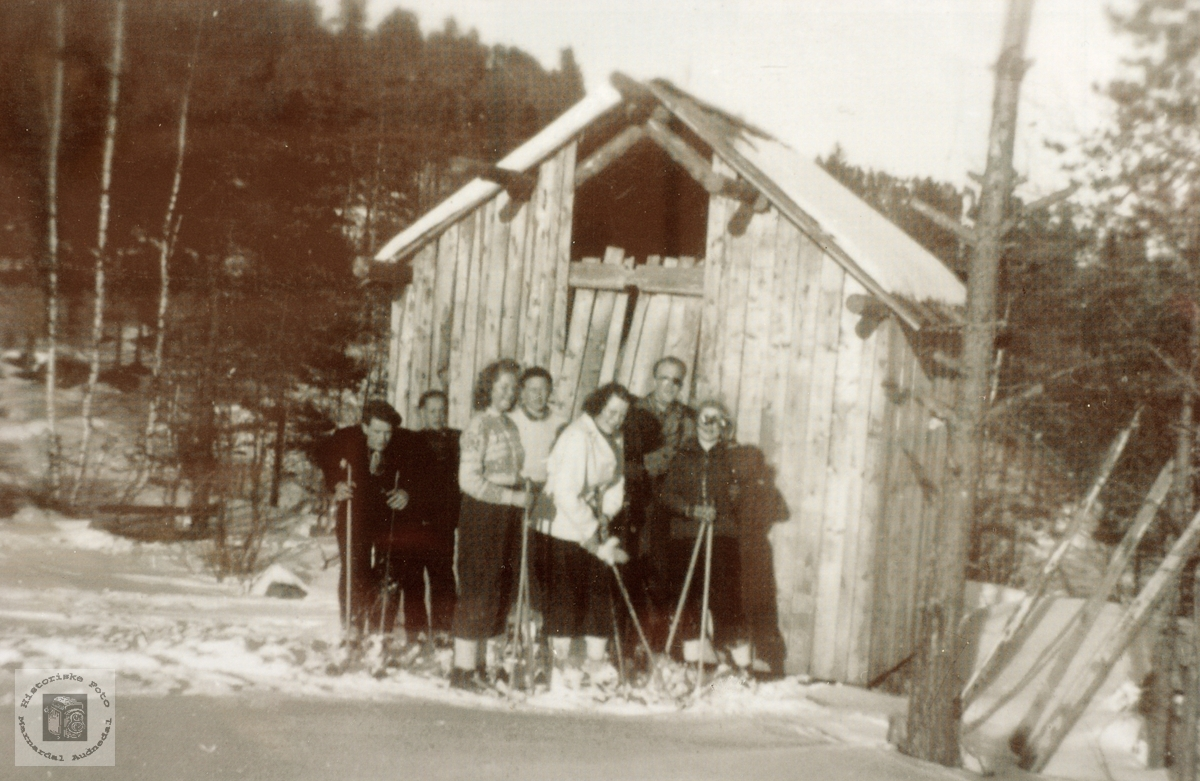 Skitur til Øvre Flottorp i Grindheim senere Audnedal.