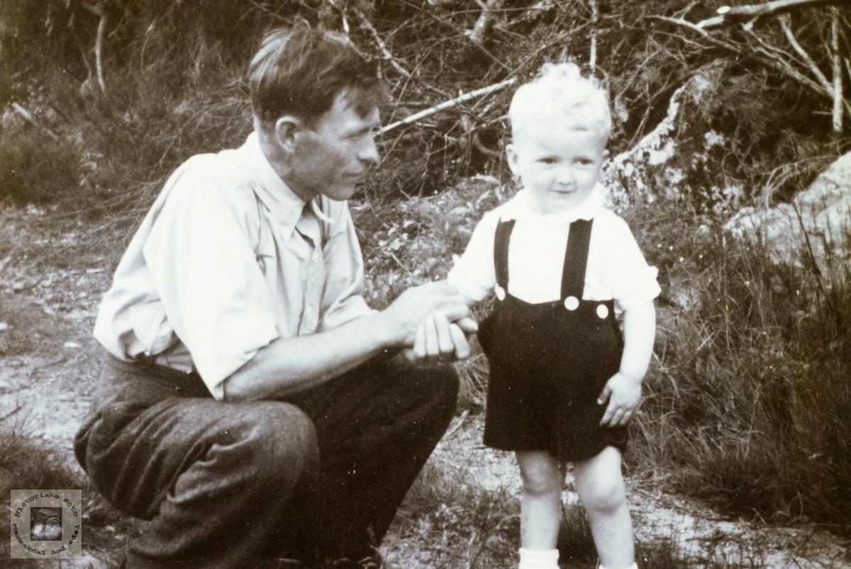 Far og sønn Håland. Grindheim senere Audnedal.
