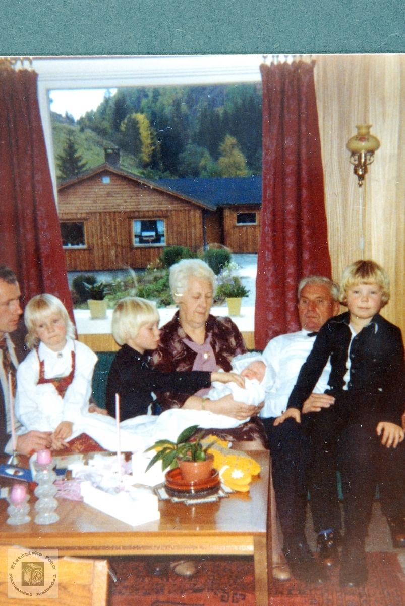 Barnedåpen til Klara Marie Handeland, Smedsland i Audnedal.