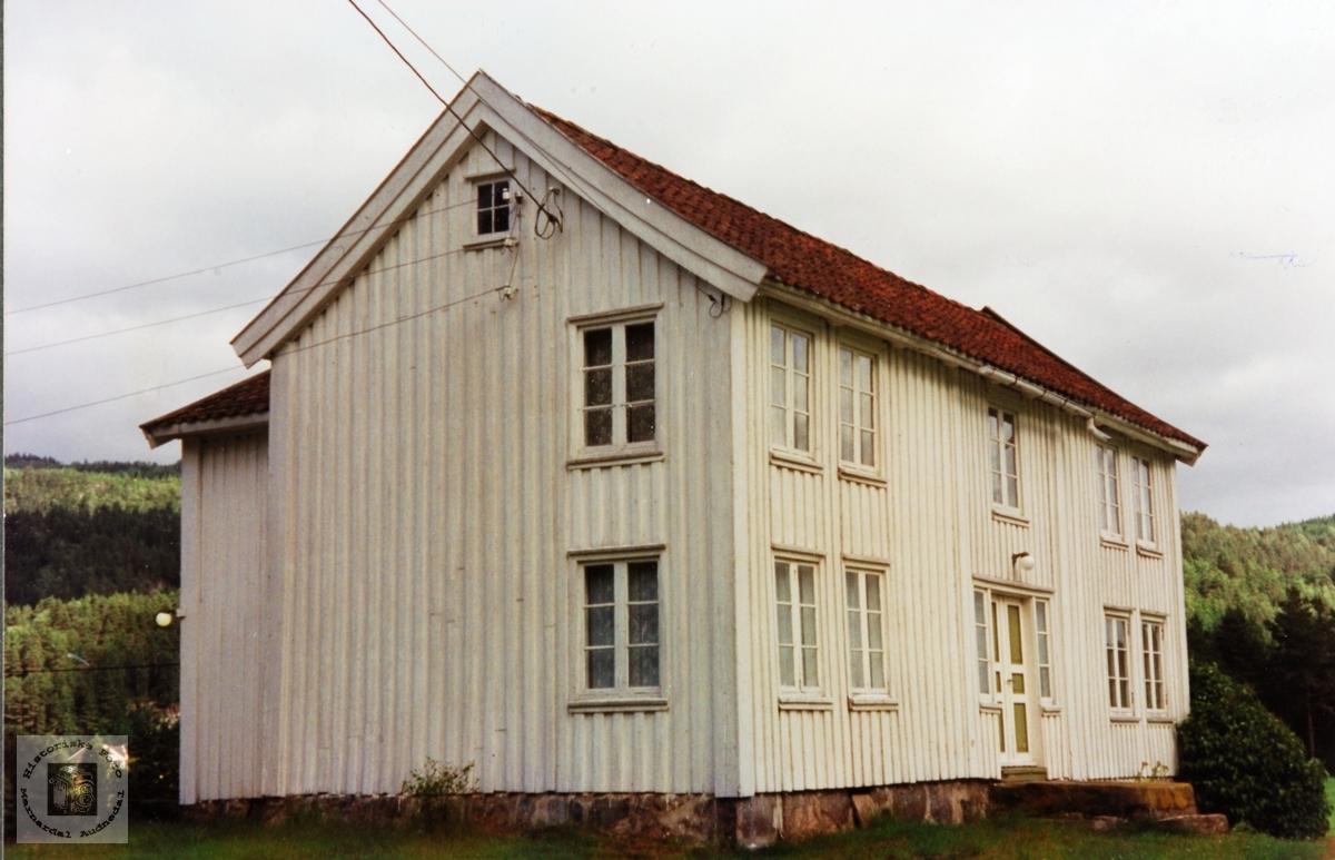 Gammelt sørlandshus på Hauen, Ytre Øydna. Grindheim Audnedal.