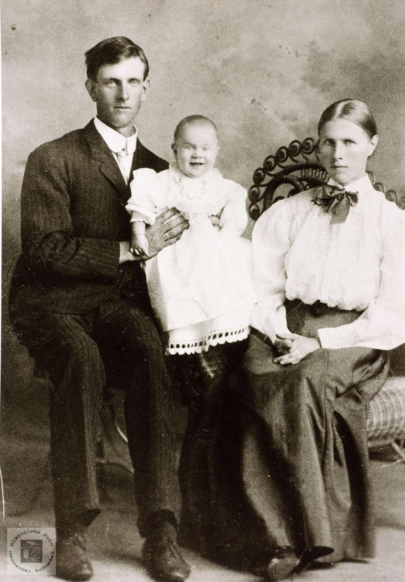 Ekteparet Tobias og Guri Ågedal Refsnes i USA. Grindheim Audnedal.