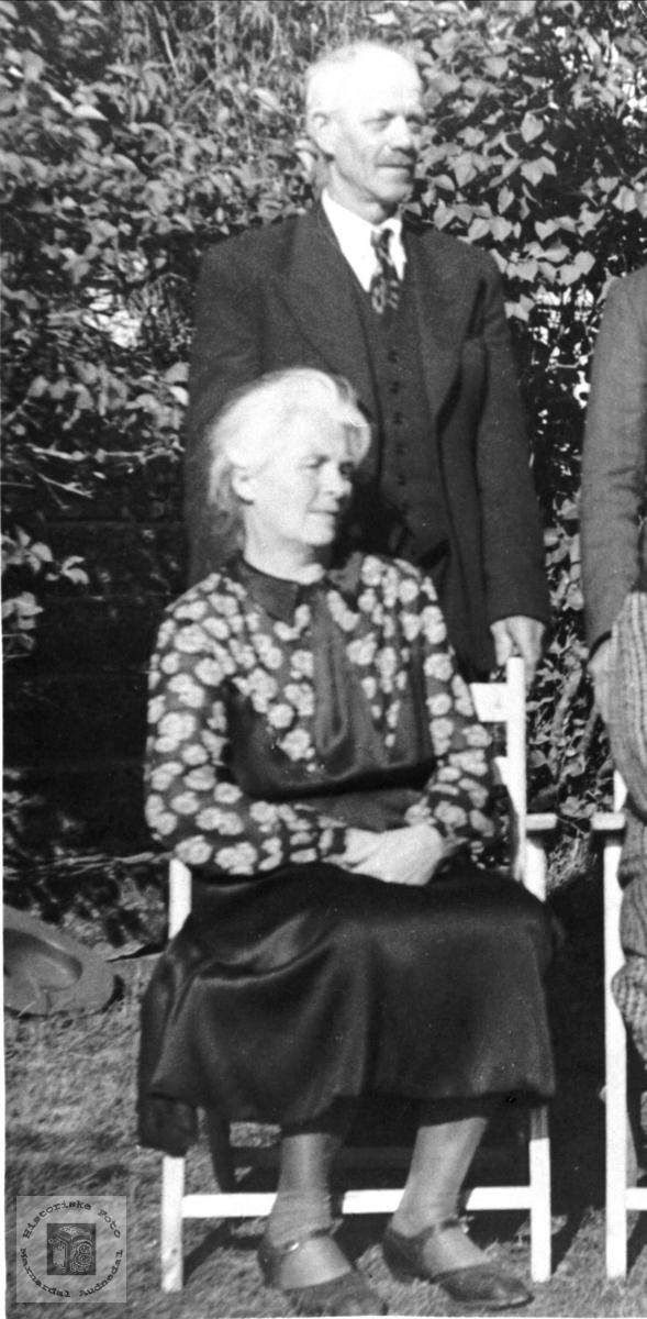 Portrett av Ånen Stedjan og Anna Stedjan, Bjelland.