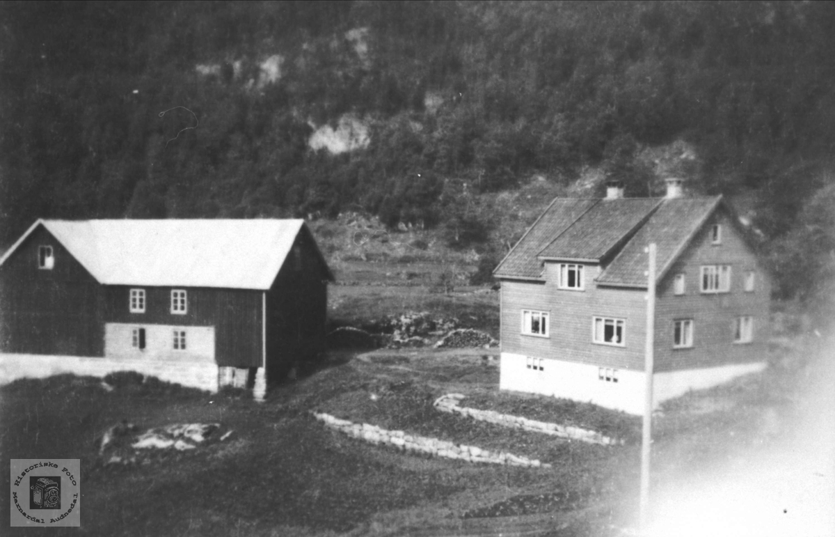 "Garden ""Der heime"" på Foss i Bjelland."