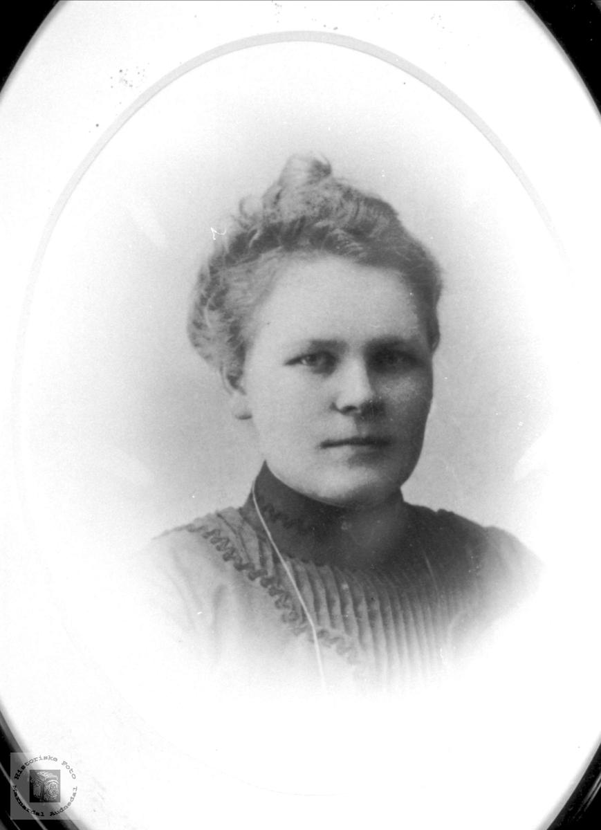Portrett av Berte Katrine Skoddan, Øyslebø.