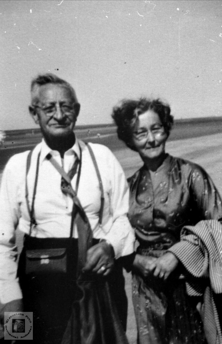Ekteparet Abraham og Ruth Vestbø.