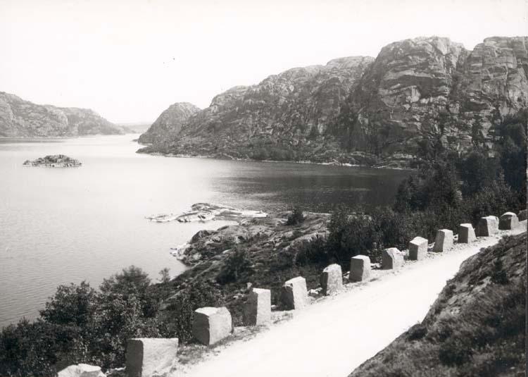 "Vykort. ""Tosteröd. Tosteröds stora vatten, sett fr. v."" ""Foto (E84) Dan Samuelsson 1924. Köpt dec. 1958."""