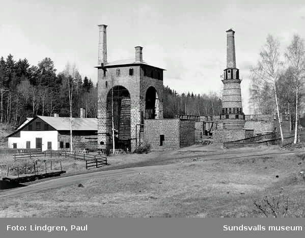 Masugn och rostugn vid Galtströms Järnbruk.