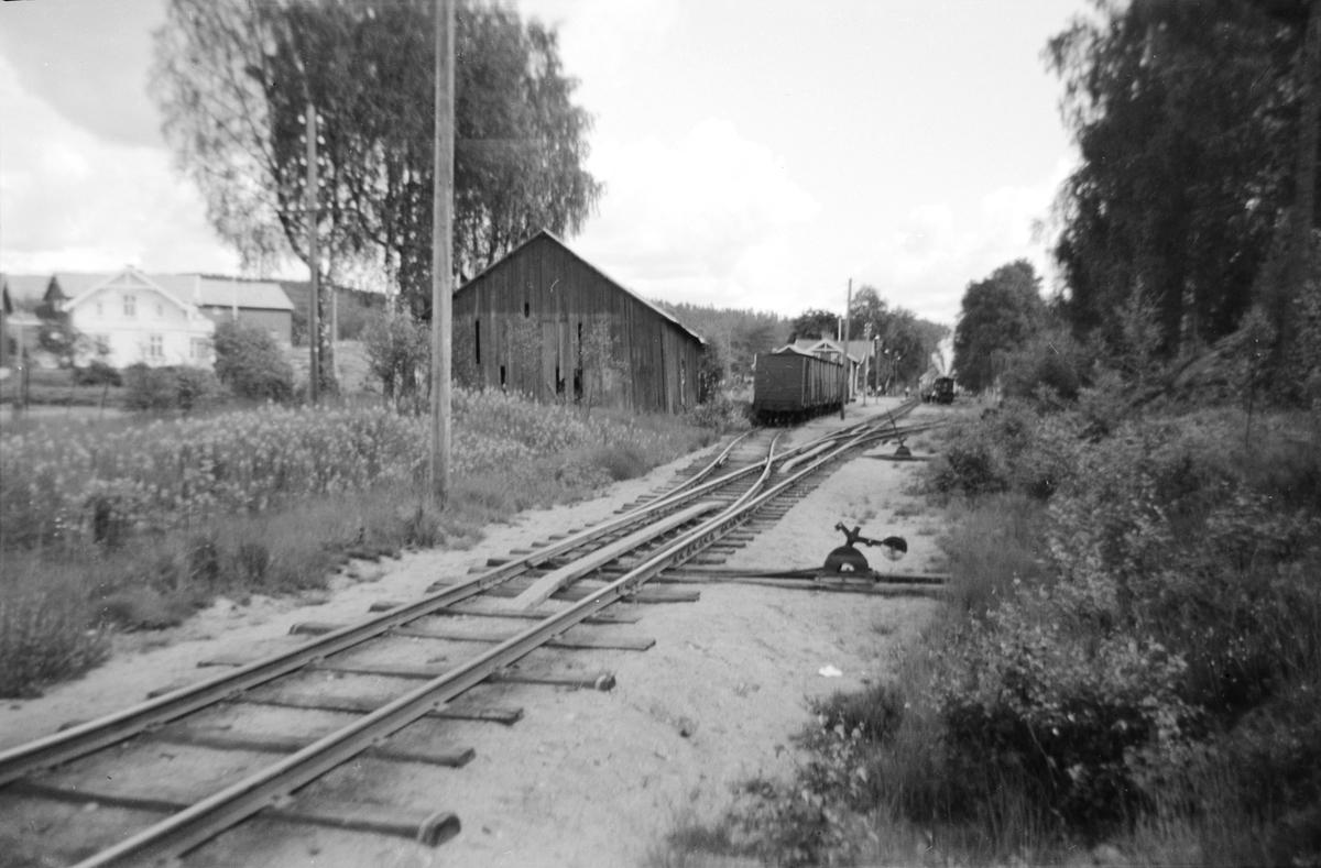 Fra Hornnes stasjon på Setesdalsbanen