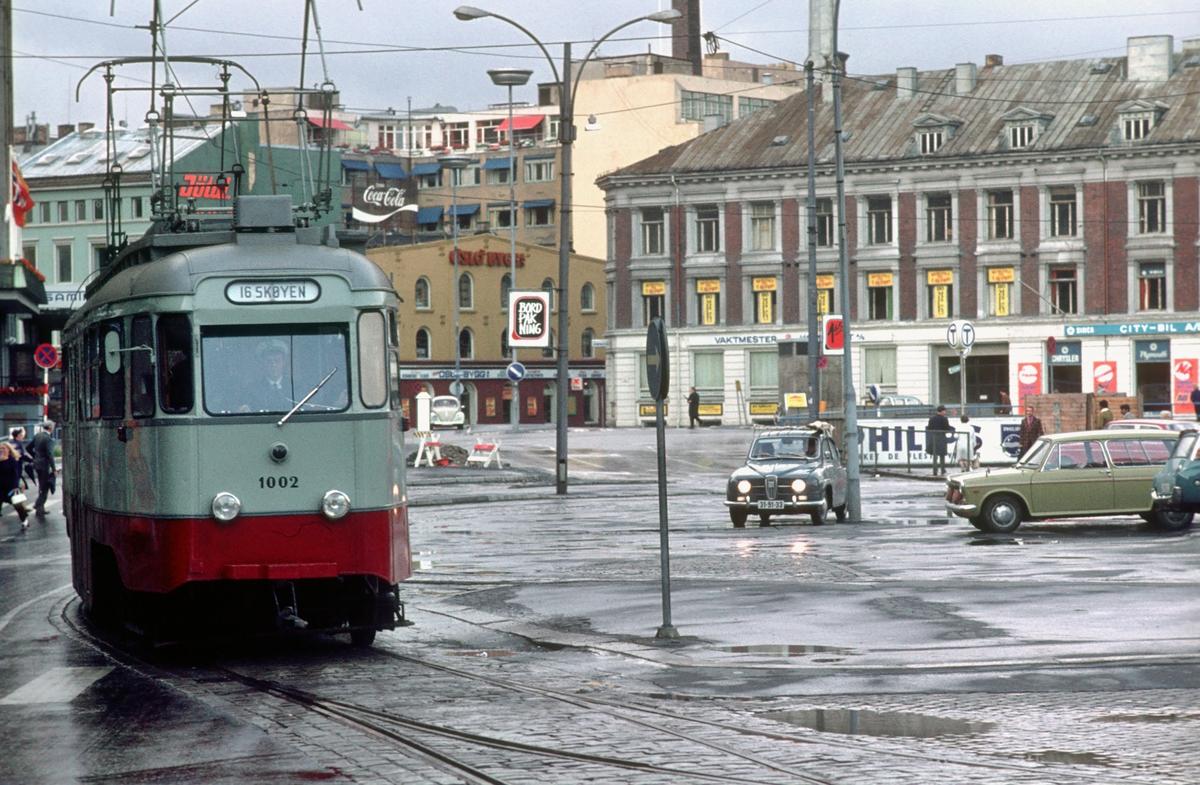 Ekebergbanen, vogn 1002. Trikk. Oslo Sporveier.