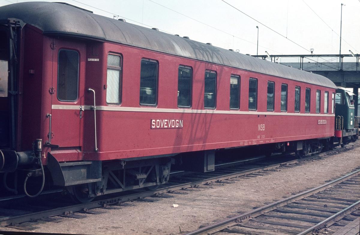 Sovevogn WLB blir skiftet på Oslo Ø.