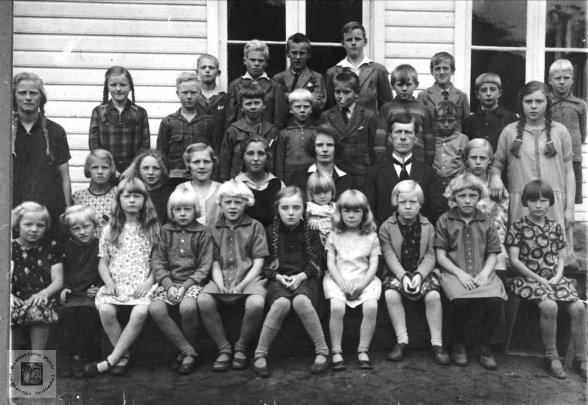 Skoleklasse fra Laudal