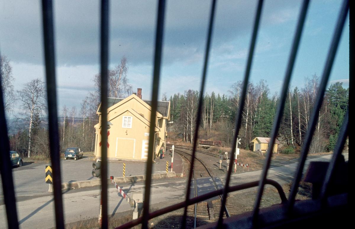 Fall stasjon, sett fra lokomotivet i tog 281, Di 3 630.