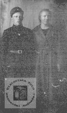 Soldat Peder Ugland og Mina.