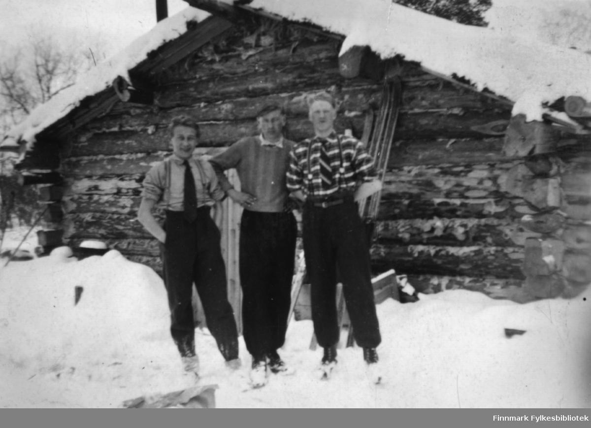 Påsketur 1947.  Fra venstre: Johannes Randa, Abraham Randa og Trygve Sotkajærvi.
