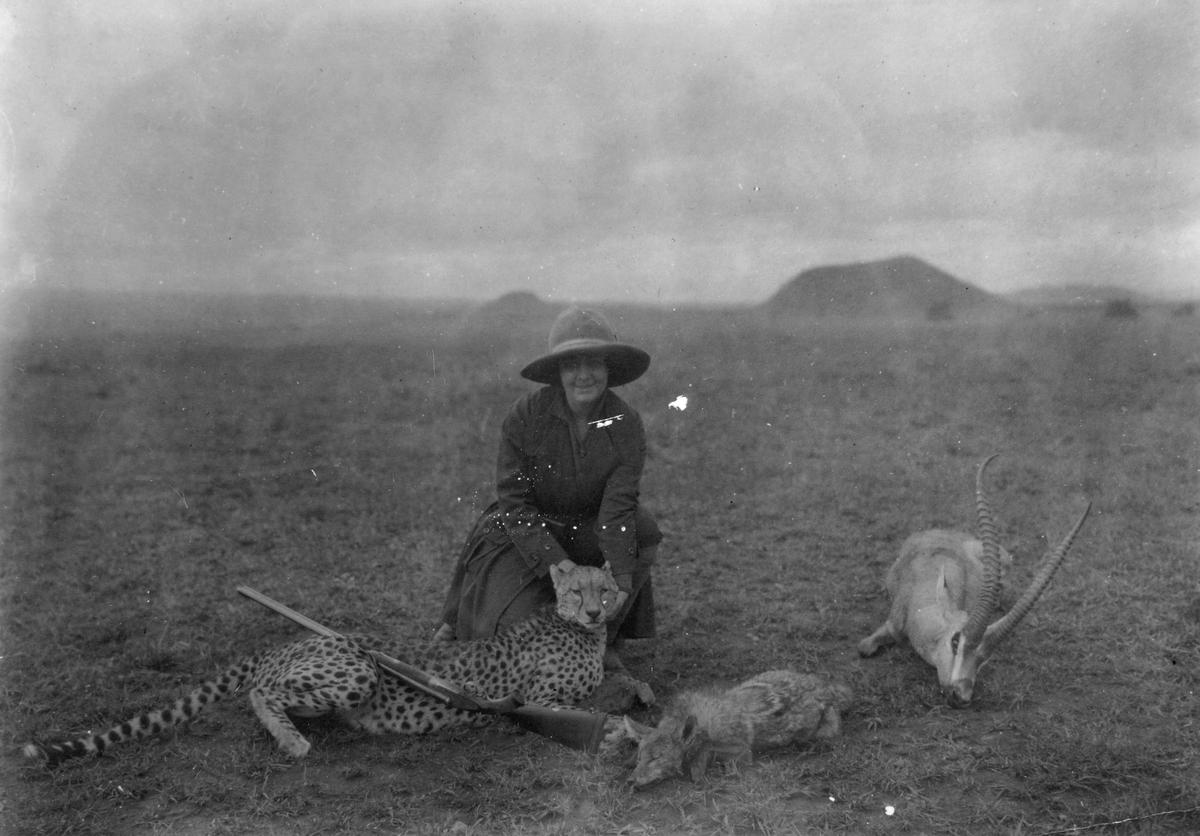 Matty Christiansen (Thams) på jaktsafari i Serengetti området.
