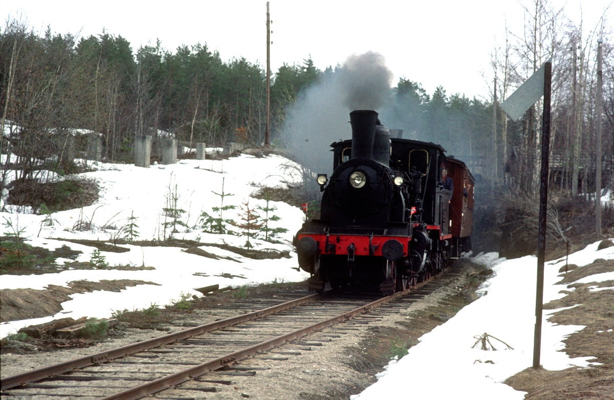 Veterantog på Krøderbanen med damplokomotiv 21b 252