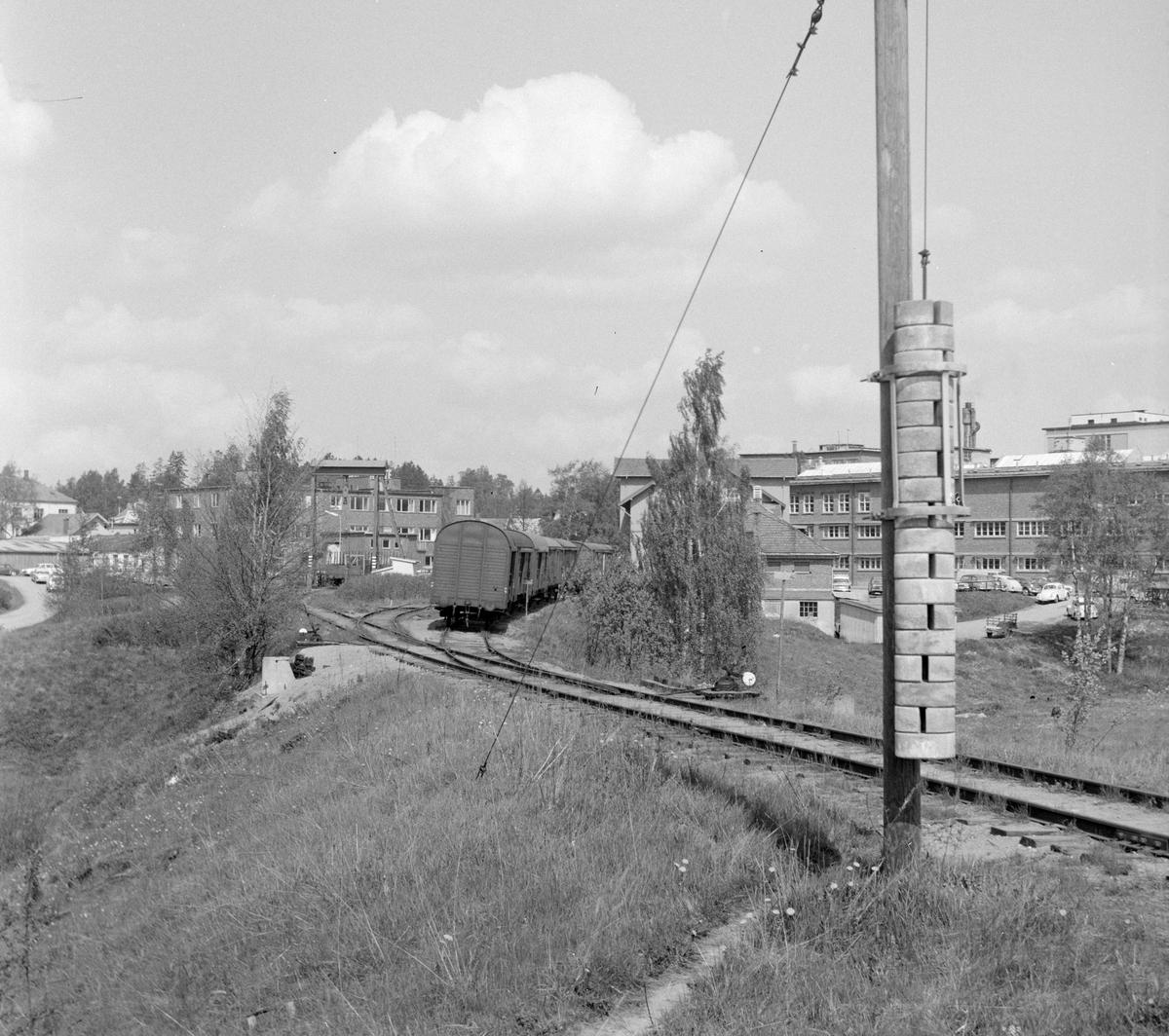Solbergfossbanen, innkjøringen fra Østfoldbanen retning Solbergfoss.