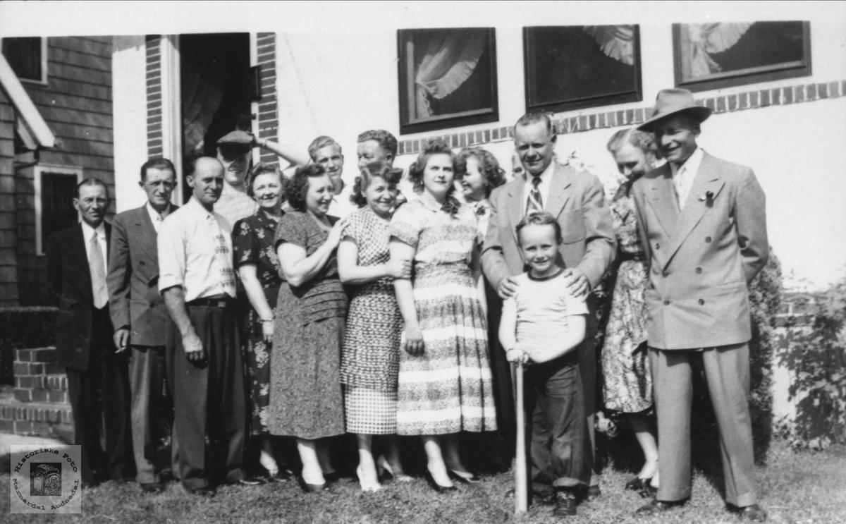 Familiebilde fra Amerika