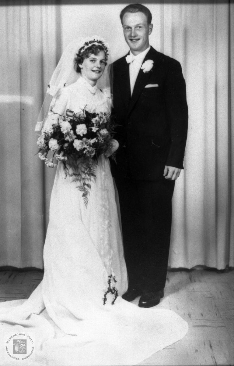 Brudeparet Tomine og Torgeir Haugland.