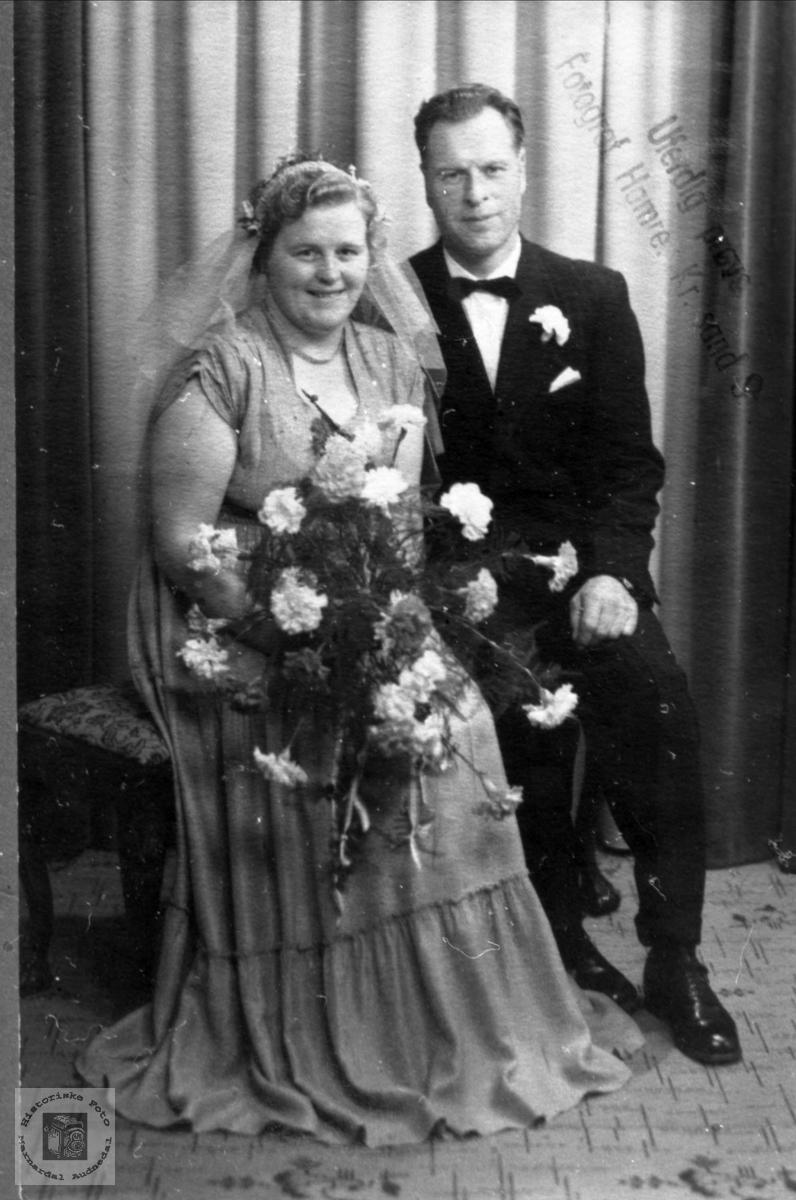 Brudeparet Ragna og Olav Gunnar Bjerland.