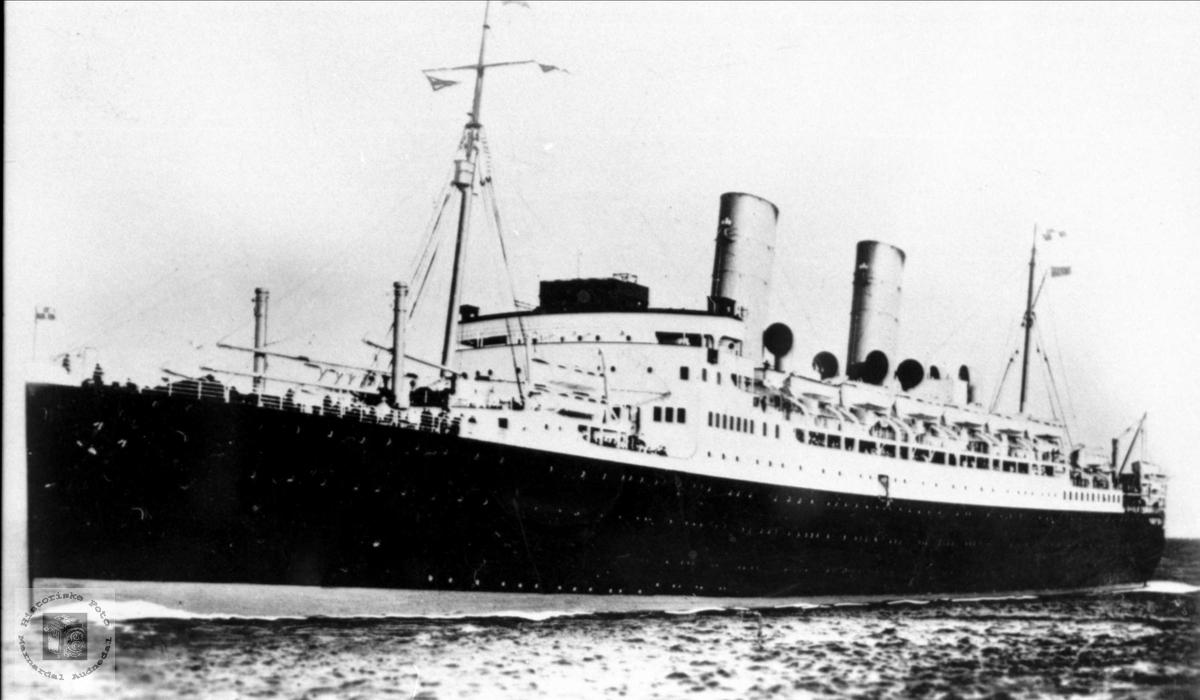 """Amerikabåten """"Duchess of York""""."""