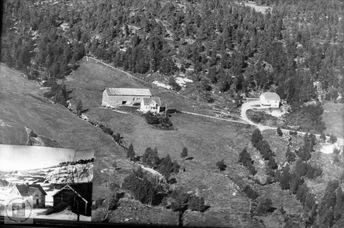Flyfoto av Hauglandsgard; Bjønnejordet.