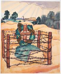 En riddare av Goergsorden på sin sista viloplats* [Akvarellm