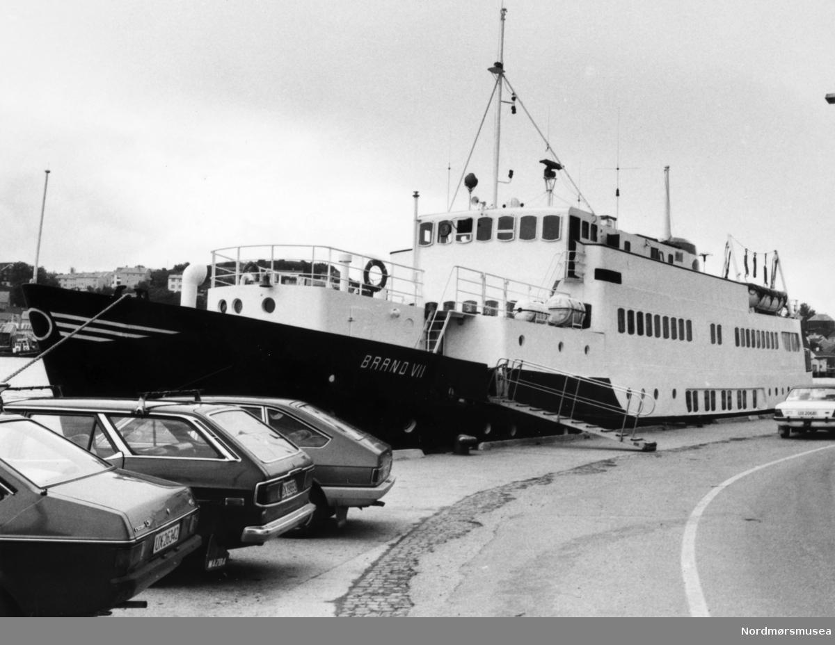 Fartøyet Brann VII. Bildet er fra avisa Tidens Krav sitt arkiv i tidsrommet 1970-1994. Nå i Nordmøre museums fotosamling.