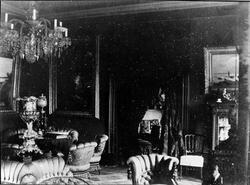Interiör från Nolhaga slott, 1880-tal.