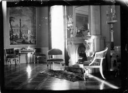 Interiör från stora salongen på Nolhaga slott, ca 1900. Salo