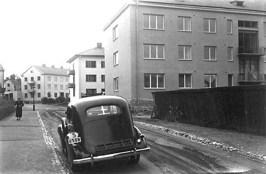 Gatuparti, Rudbecksgatan invid Tessingatan, Västerås.