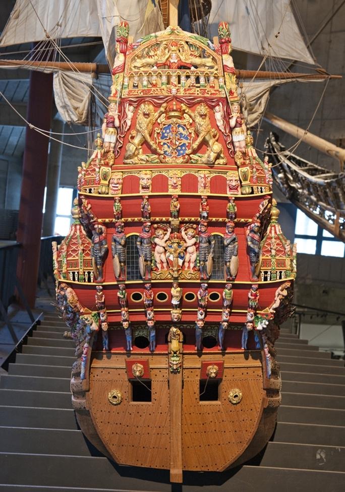 Fartygsmodell av Vasa i skala 1:10.