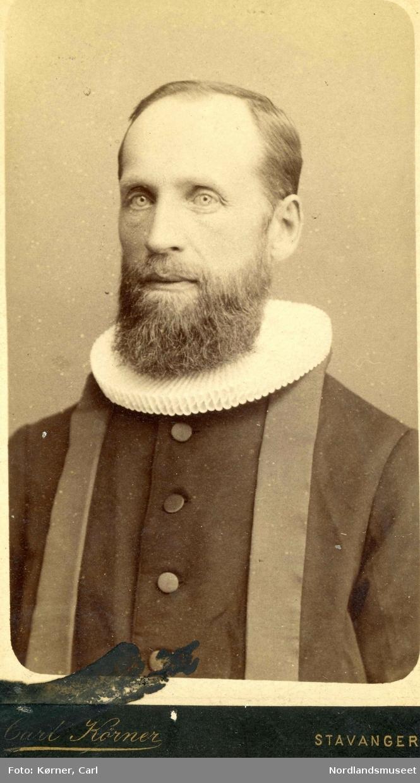 Portrett av Peder Eilert Nilsen-Lund, (1842) fra Lund i Leiranger. Mangeårig misjonær på Madagaskar.