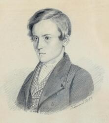Portrett av Ole Evenstad [Tegning]