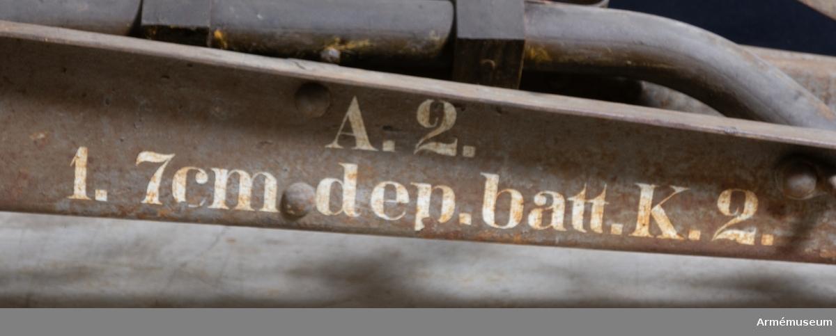 Grupp F I. Märkt: A.2. 1. 7 cm dep. batt K.2.