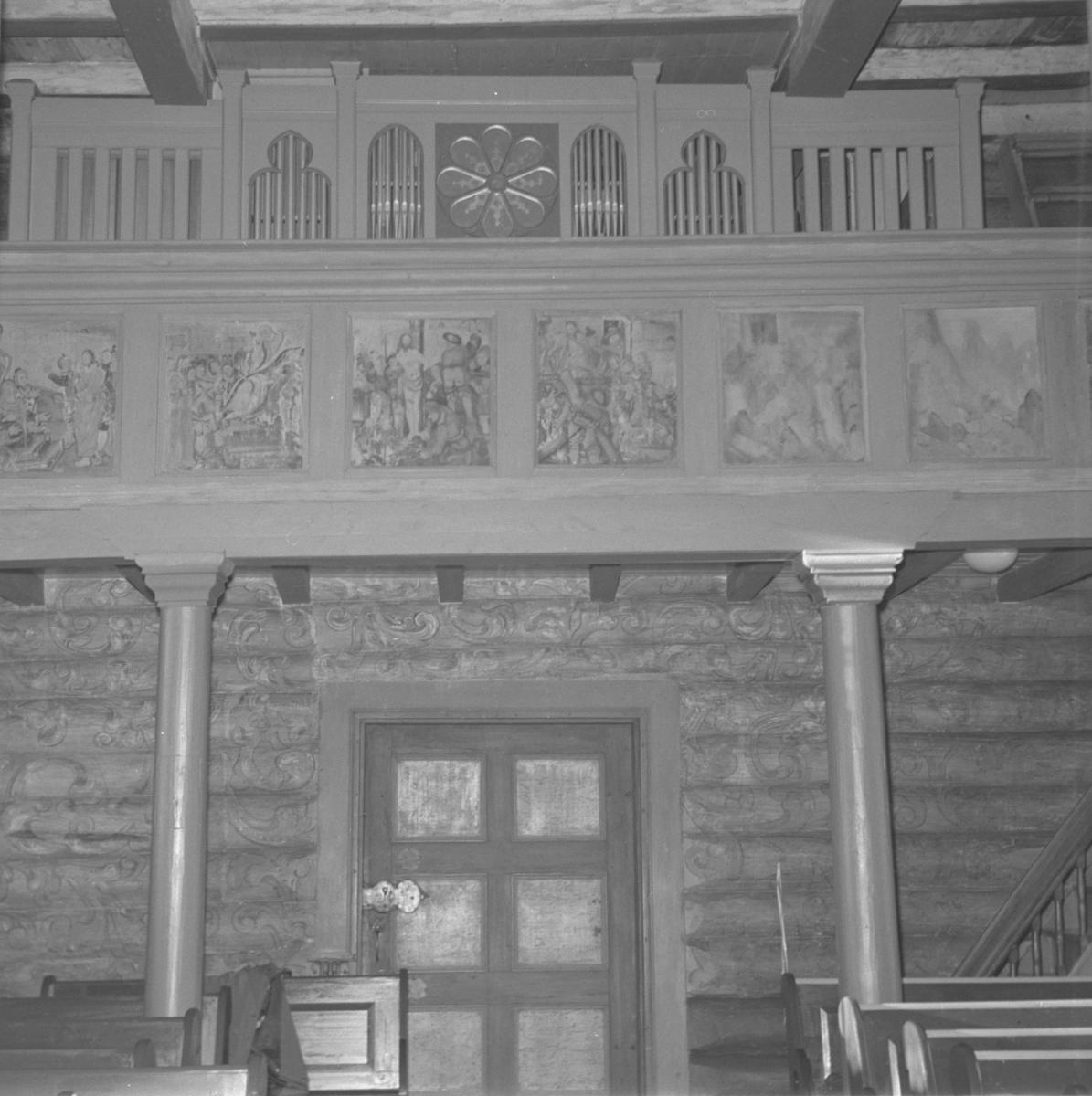 Tylldalen kirke, Orgel, Bilder, Dør, Søyler