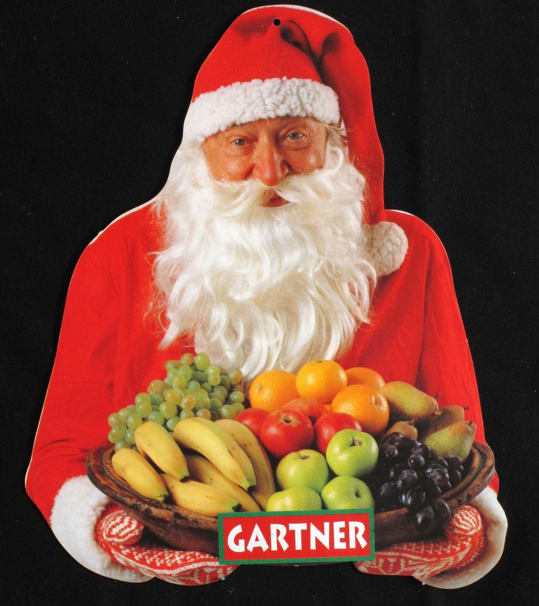 Nisse med fruktfat, Gartner-skilt.