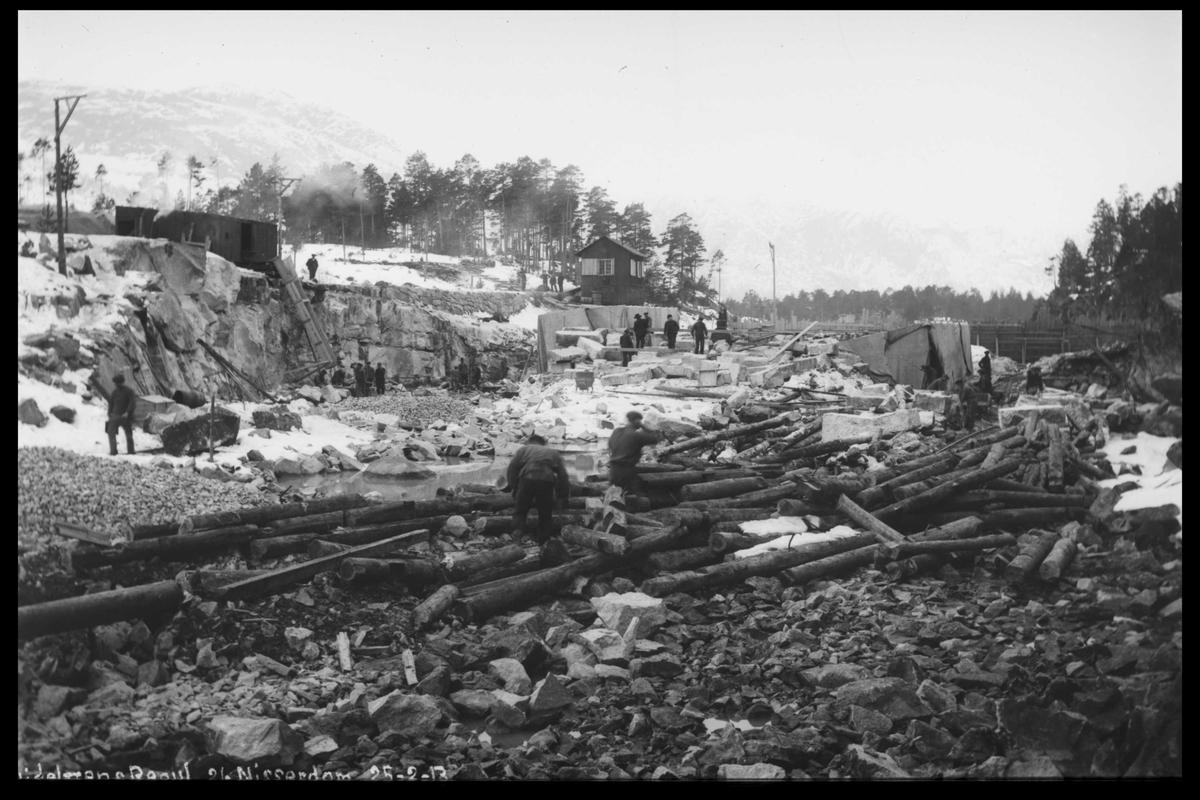 Arendal Fossekompani i begynnelsen av 1900-tallet CD merket 0446, Bilde: 14 Sted: Nisserdam Beskrivelse: Regulering