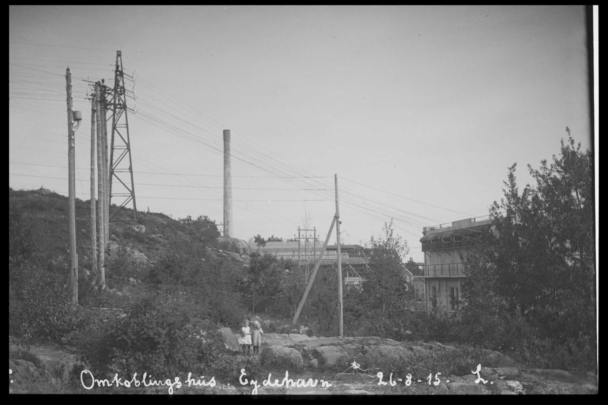 Arendal Fossekompani i begynnelsen av 1900-tallet CD merket 0565, Bilde: 76 Sted: Bøylefoss høyspentlinjer Beskrivelse: Innstrekk omkoblingshuset