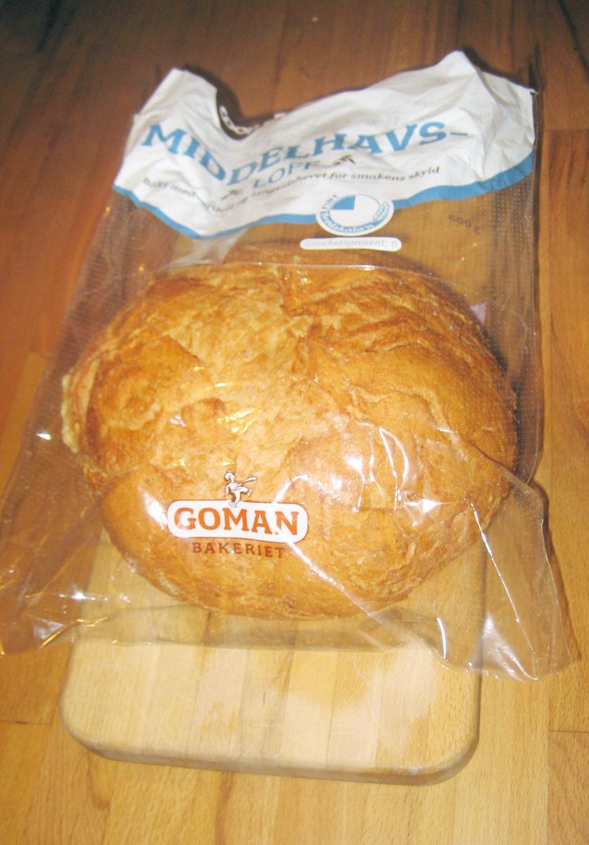 Det er et motiv med akantusranker på brødposen