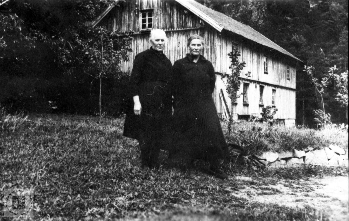 To søstre. Randi og Anna, f. Lindland, Laudal.