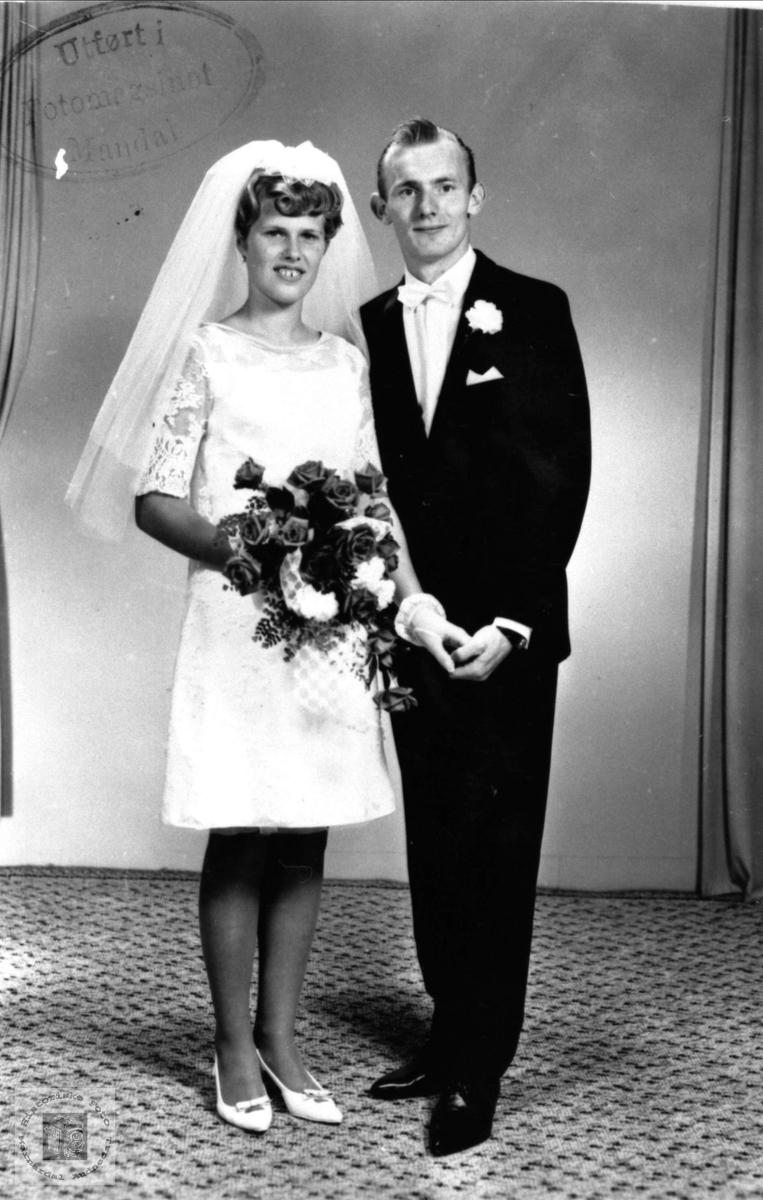 Brudeparet Arnhild og Jan Einar Gabrielsen, Øyslebø.