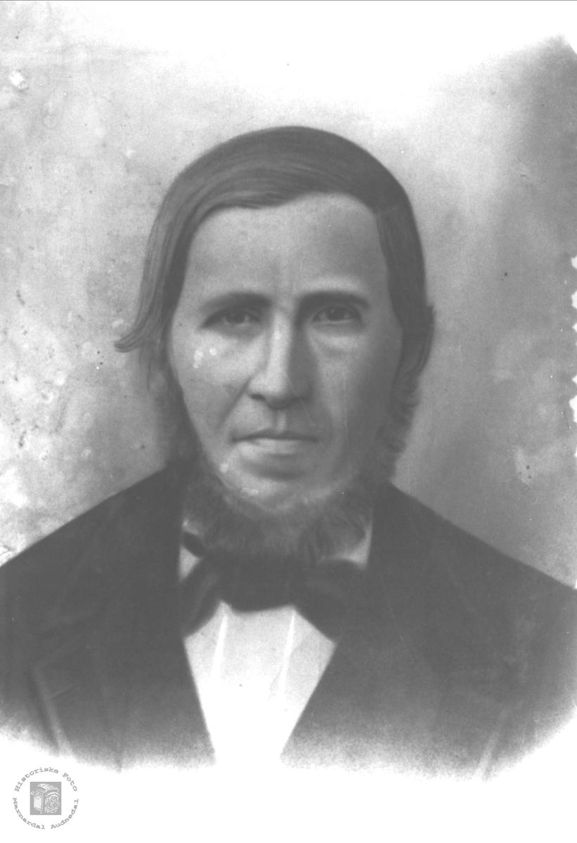 Portrett av Jens Lindtveit med tilknytning til Sveinall, Laudal.