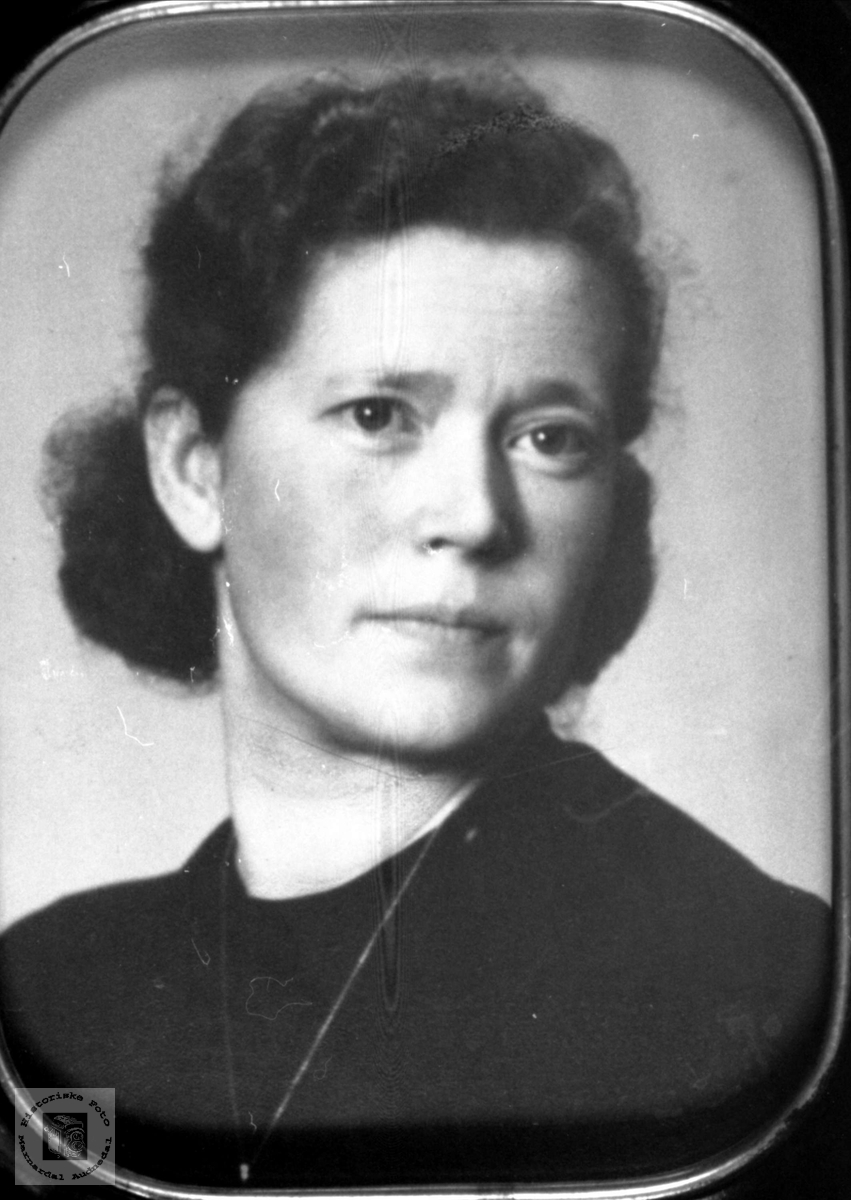 Portrett av Gudrun Skaar, Øyslebø.