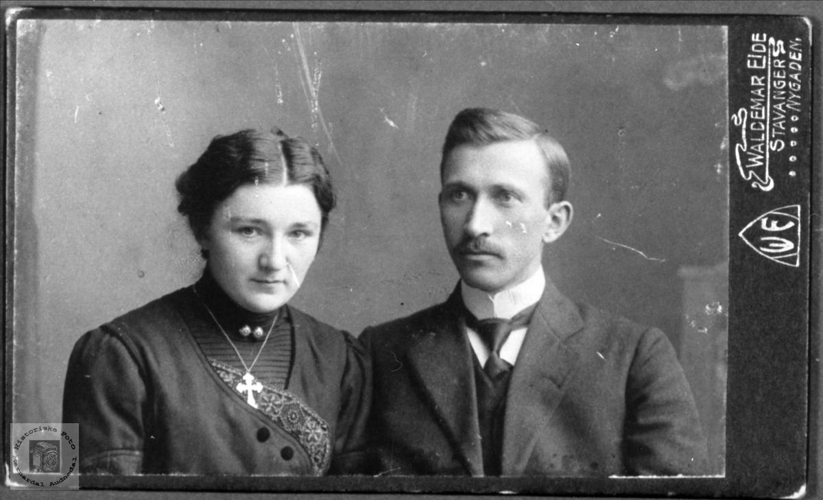 Ekteparet Manda Katrine og Sigvard Johan Nome
