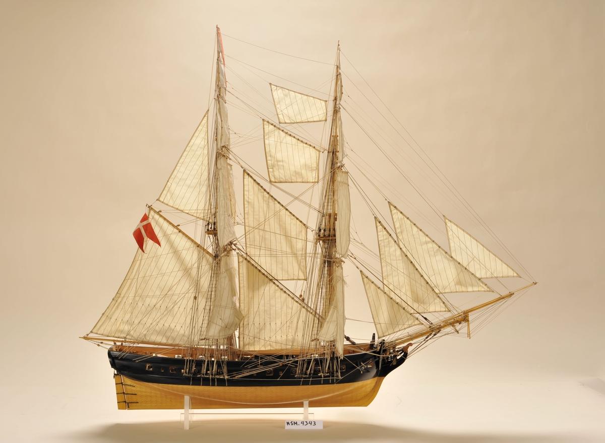 'Lougen' var konstruert av fabrikkmester Stibolt, bygd i København 1805,  overgikk til den norske marine 1816. Solgt til Fredrikstad og ombygget til bark 1825, solgt til Kristiania 1829. Kondemnert  Cuxhaven  1882 og opphugget.