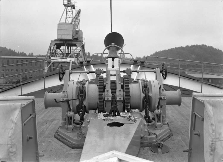 Bilder från däck på fartyg 116-119, troligen från 116 S/S Vorkuta PT 57.
