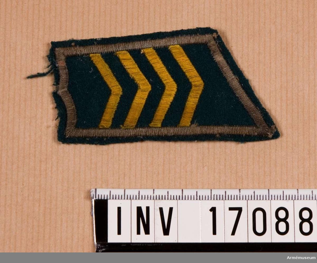 Grupp C I.  Ur en samling knappar, truppslagsbeteckningar och gradbeteckningar, Finland.