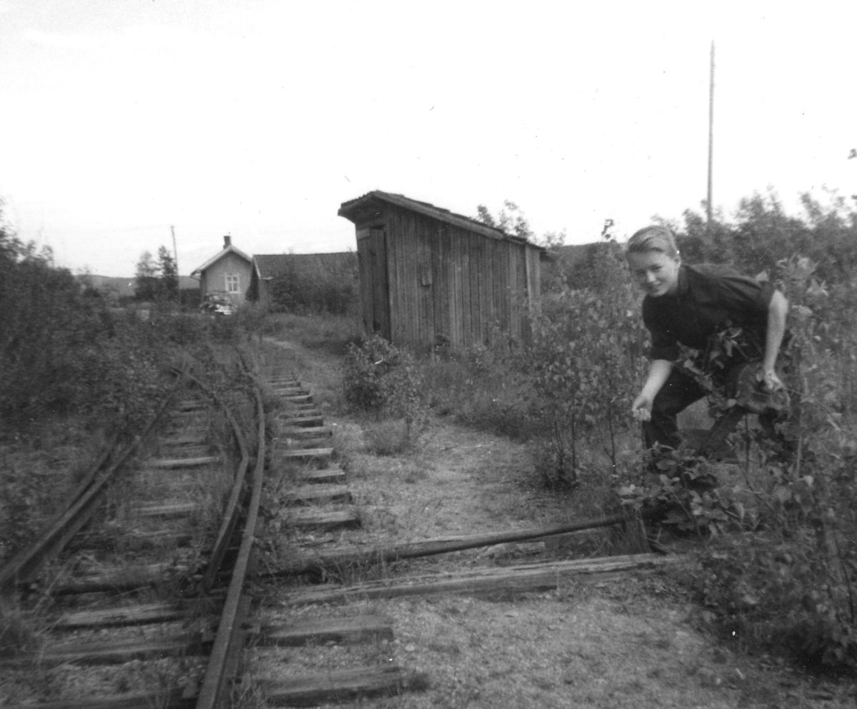 Ved søndre sporveksel på Hornåseng stasjon.
